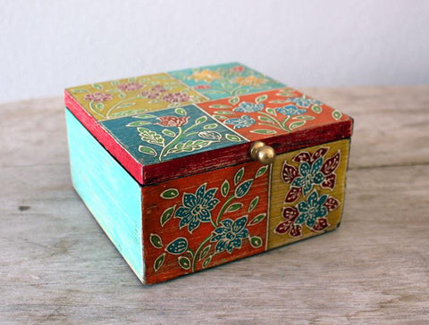 Patchwork Square Box