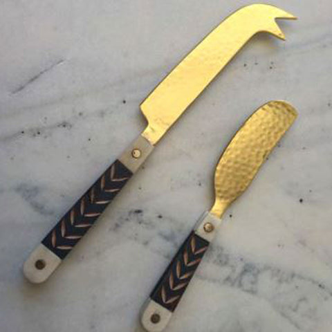 Wood & Brass Pate Knife