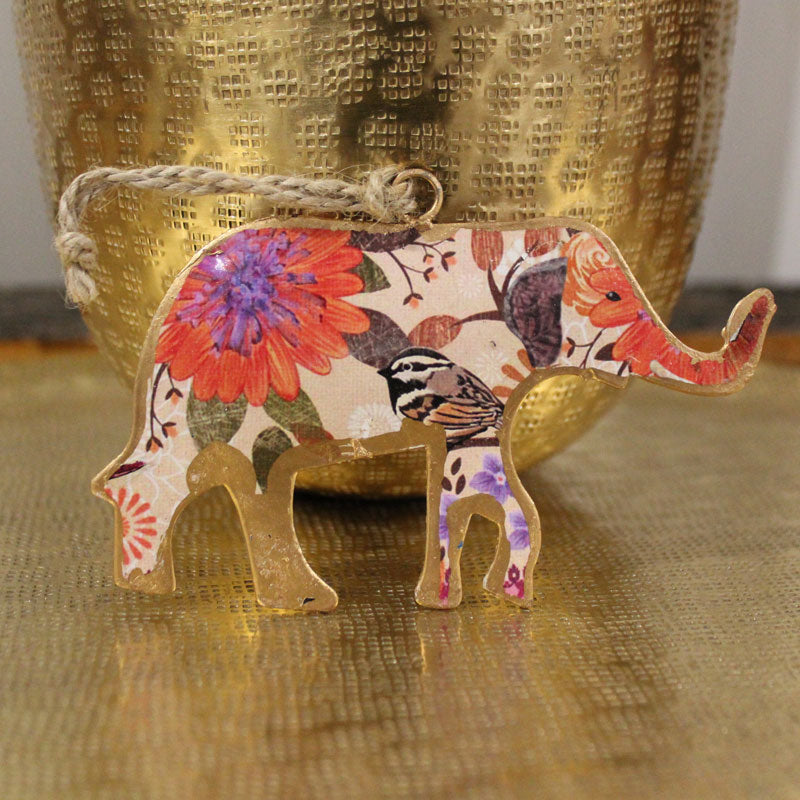 Patterned Elephant Ornament - The Chic Nest