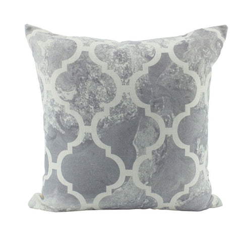 Grey Patterned Cushion - The Chic Nest