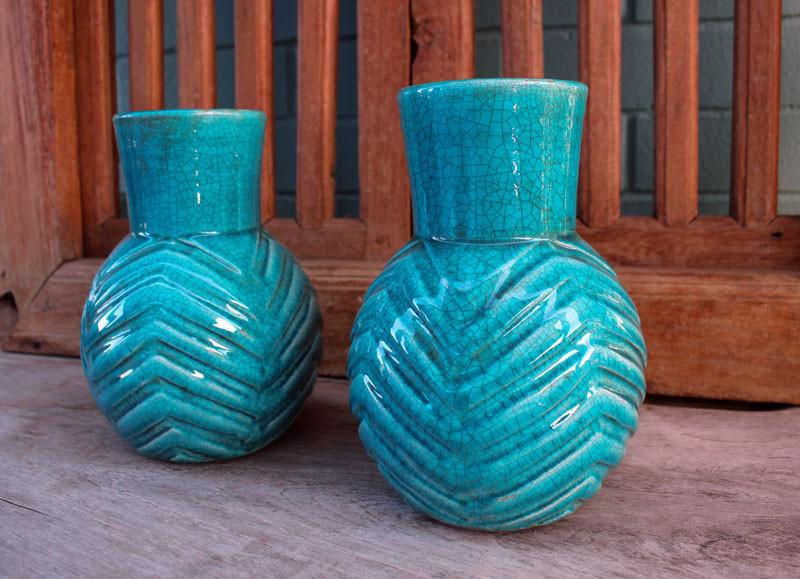 Turquoise Patterned Vase