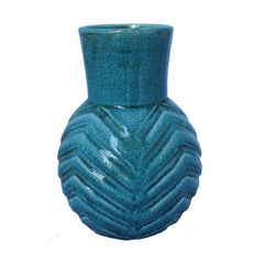 Turquoise Patterned Vase - The Chic Nest