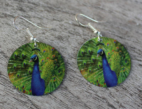 Peacock Earrings - The Chic Nest