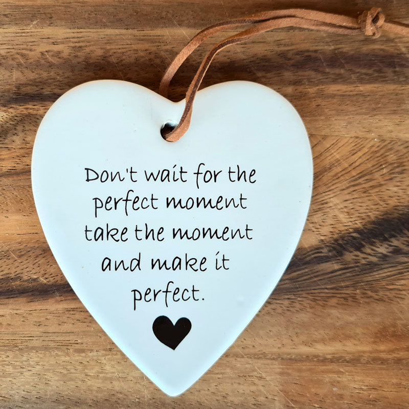 Perfect Moment Hanging Heart Ornament