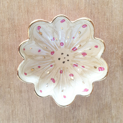 Cream Petals Trinket Bowl - The Chic Nest