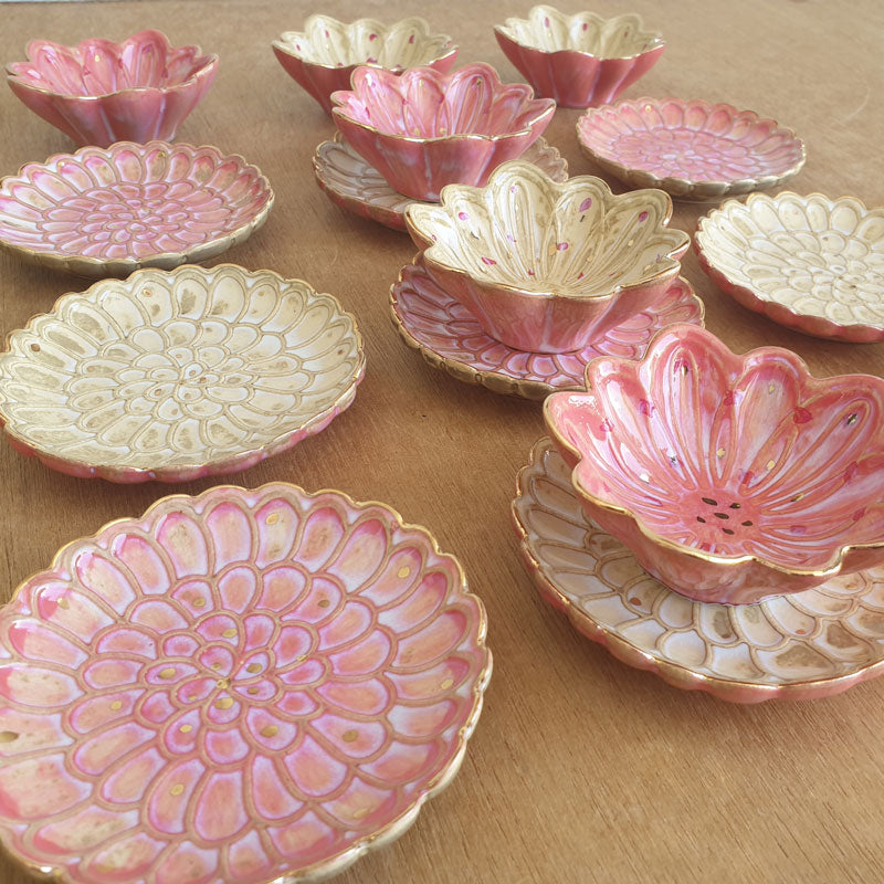 Pink Petals Trinket Dish - The Chic Nest