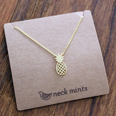 Pineapple Necklace Gold - Neck Mints - The Chic Nest