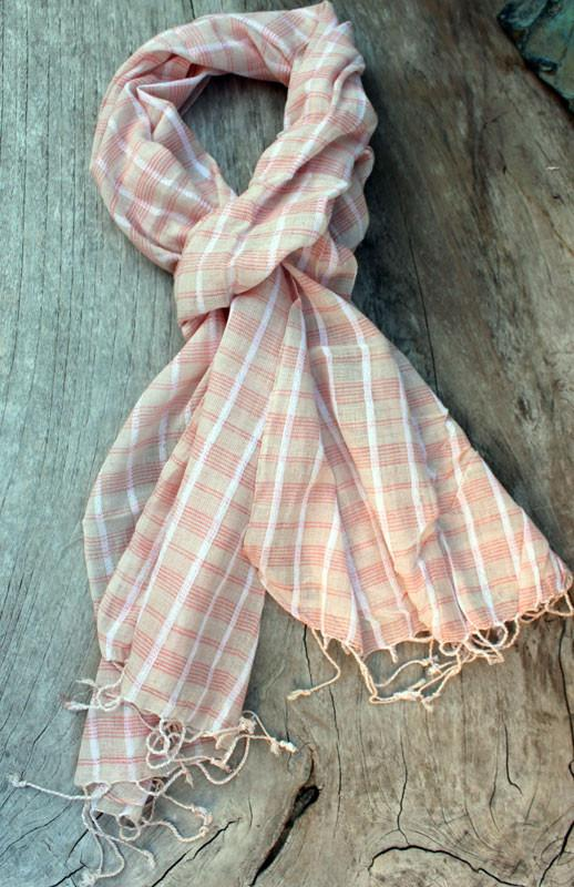 Pink Check Scarf - The Chic Nest