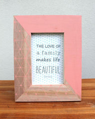 Geo Photo Frame - Pink - The Chic Nest