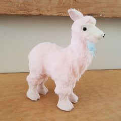 Pink Fluffy Llama Figurine - The Chic Nest