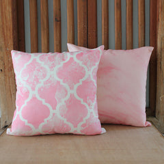 Blush Pink Patterned Cushion - The Chic Nest