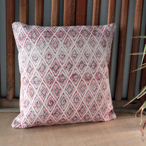 Pink & Grey Kilim Cushion - The Chic Nest