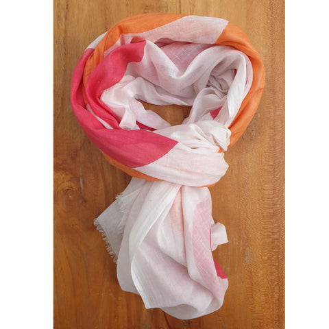 Orange and Pink Scarf - The Chic Nest