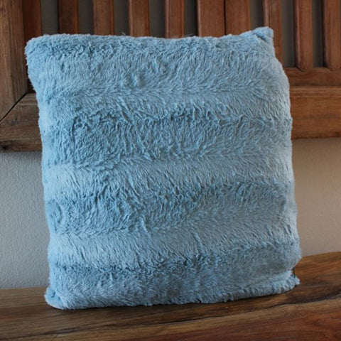 Plush Pale Blue Cushion
