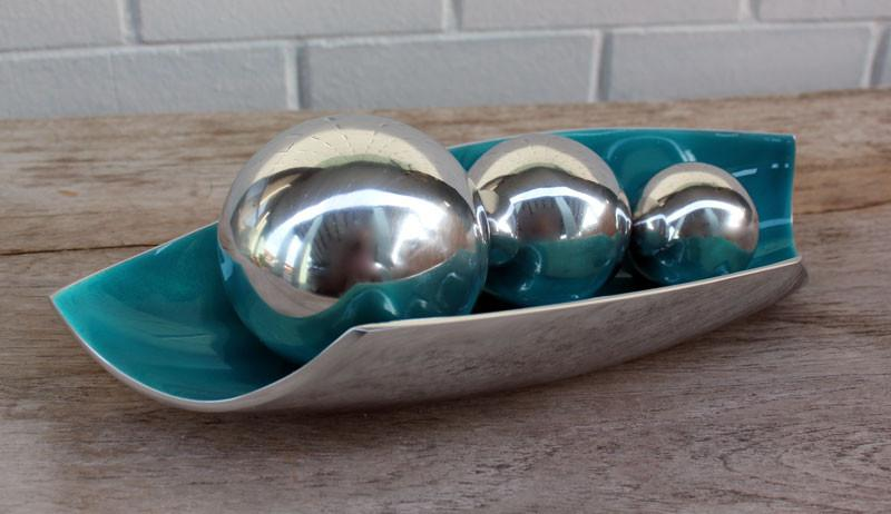 Polished Aluminium Ball 6cm - The Chic Nest