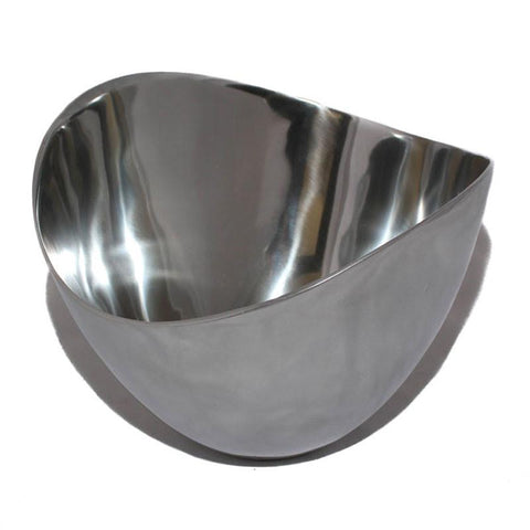 Polished Large Deep Silver Bowl - The Chic Nest