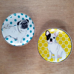 Pug Trinket Dish - Blue - The Chic Nest