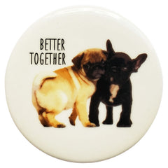 Better Together Pug & Frenchie Coaster - The Chic Nest