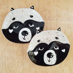 Racoon Face Ceramic Trinket Dish - The Chic Nest