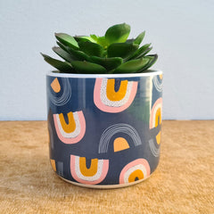 Rainbow Ceramic Planter