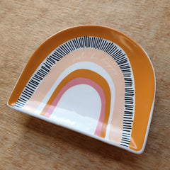 Just Be Happy Rainbow Trinket Dish - The Chic Nest