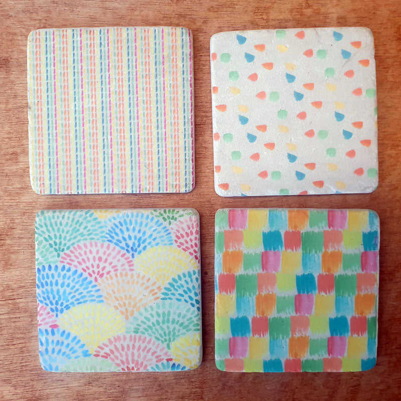 Rainbow Set of 4 Coasters