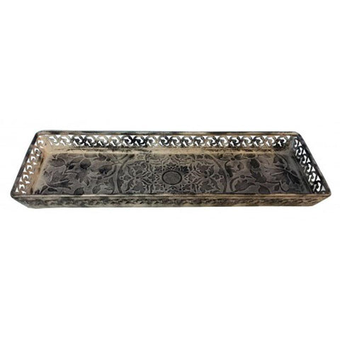 Rectangle Metal Tray - The Chic Nest