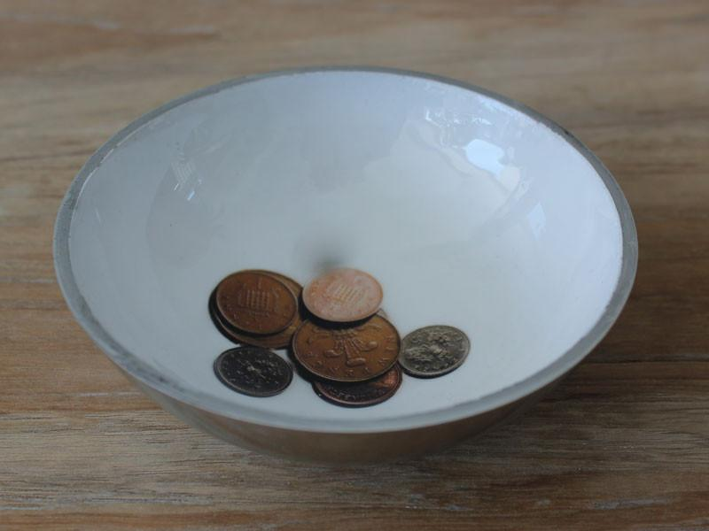 Recycled Aluminium Coin Bowl - The Chic Nest