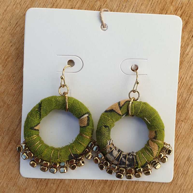 Recycled Fabric Circular Handcrafted Earrings