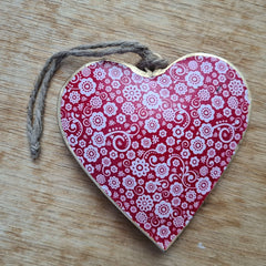Red Metal Heart Ornament