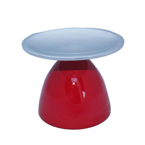Red Pillar Candle Holder
