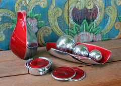 Red Ember Leaf Dish - The Chic Nest
