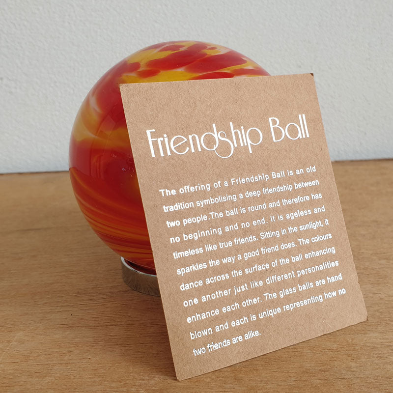 Friendship Ball Red and Yellow Swirls - The Chic Nest