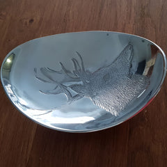 Reindeer Oval Plate - The Chic Nest