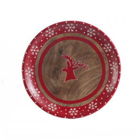 Reindeer Wooden Plate - The Chic Nest