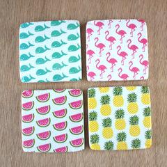 Retro Set of 4 Coasters