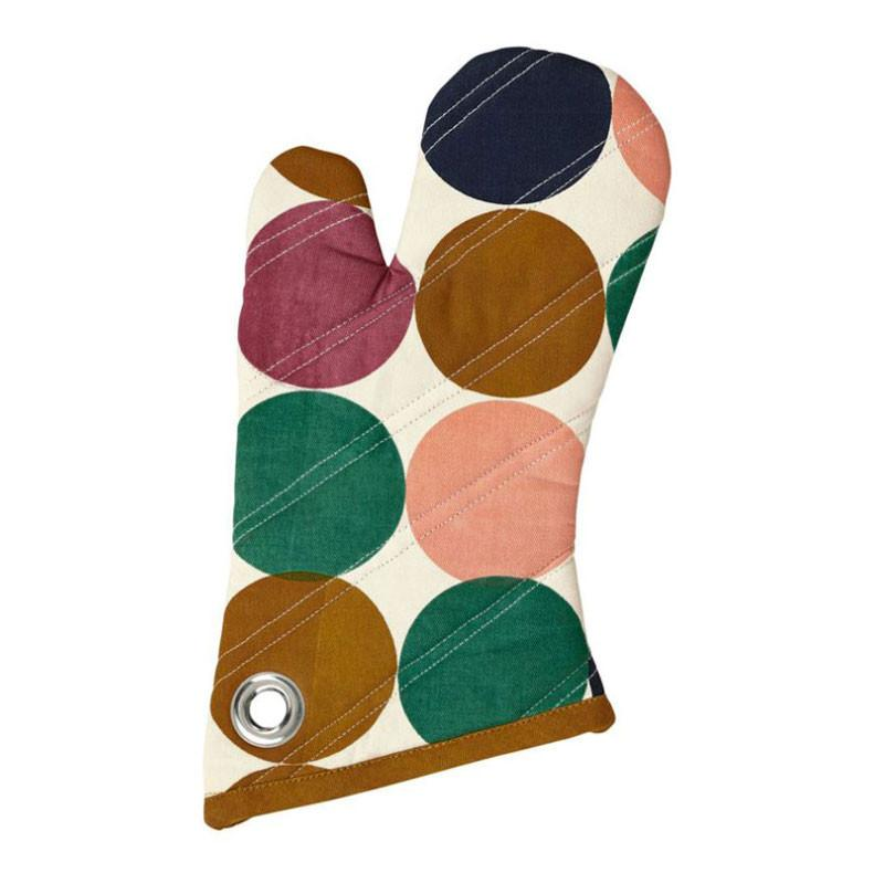 Retro Spots Oven Mitt - The Chic Nest