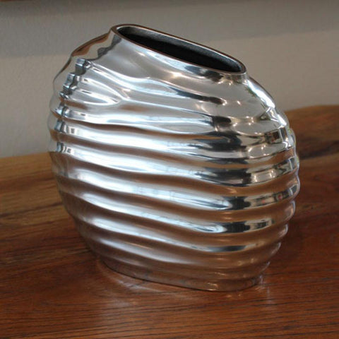 Ribbed Vase - Large - The Chic Nest