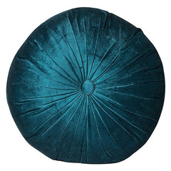 Round Velvet Cushion - Teal - The Chic Nest