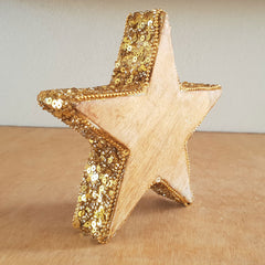 Sequinned Gold Rim Star