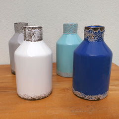 Set of 2 Blue Ceramic Vases - The Chic Nest