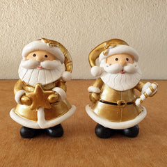 Set of 2 Gold Santas - The Chic Nest