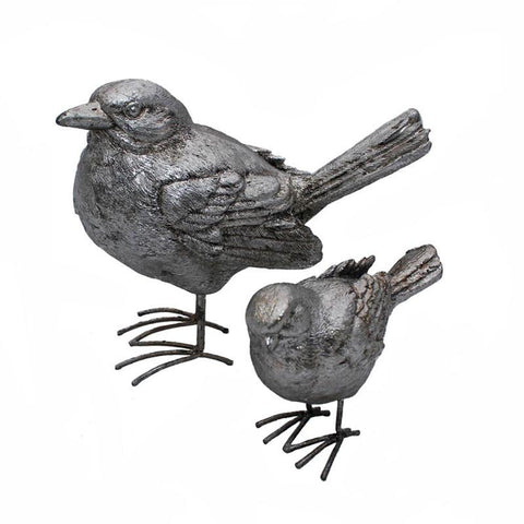 Set of 2 Silver Sparrows