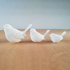 Set of 3 Birds - White - The Chic Nest