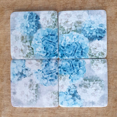Hydrangeas Set of 4 Coasters