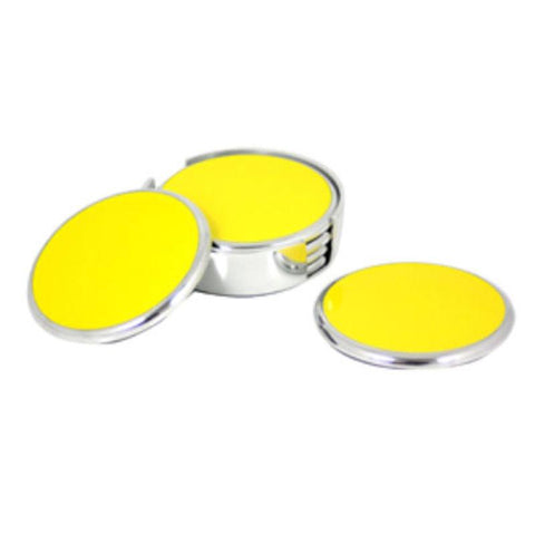 Yellow Coasters Set of 6 - The Chic Nest