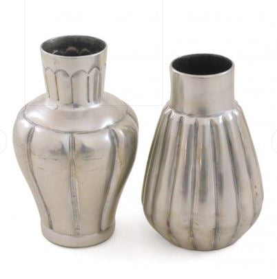 Set of 2 Handmade Bud Vases - Silver - The Chic Nest
