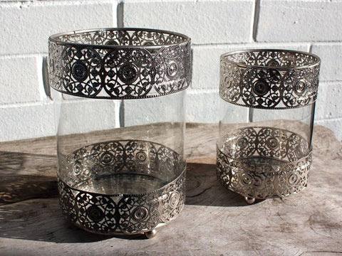 Silver Cutout Metal Candle Holder - The Chic Nest