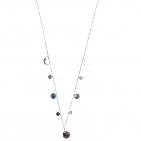 Silver Disc Necklace - The Chic Nest