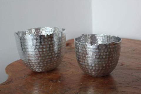 Silver Hammered Metallic Bowls Set of 2 - The Chic Nest